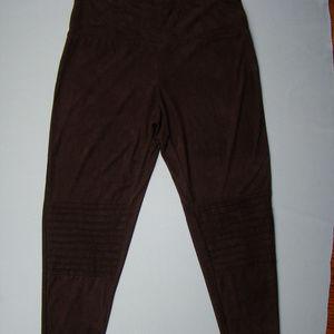 French Laundry brown pants leggins soft size XL